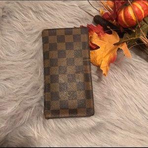 Louis Vuitton Damier Ebene Long Wallet Checkbook